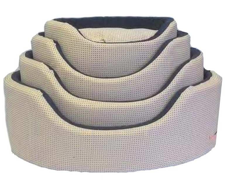 Cuccia ovale sfoderabile cotone cani grandi arredo e for Cucce da interno per cani taglia grande