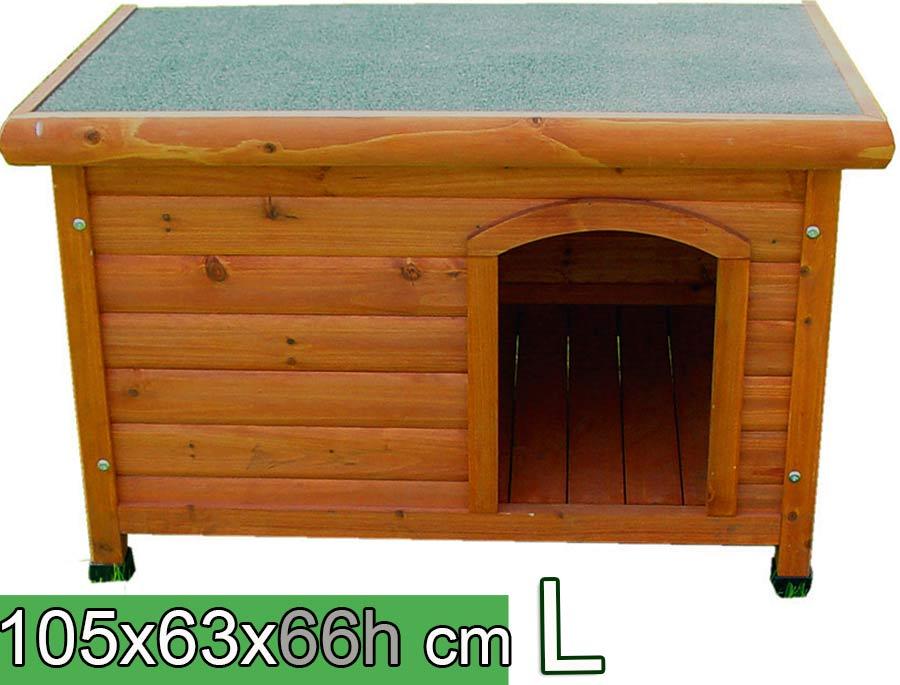 Cuccia per cani in legno tetto piano l arredo e corredo for Cucce per cani da esterno coibentate