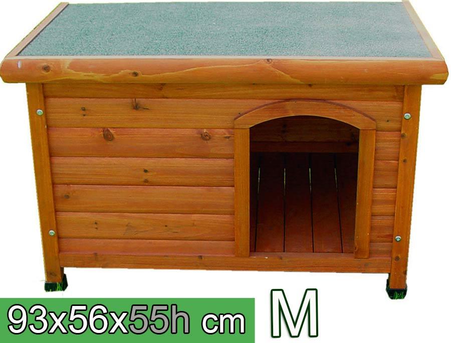 Cuccia per cani in legno tetto piano m arredo e corredo for Cucce per gatti da esterno coibentate