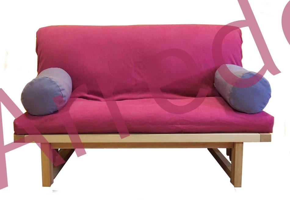 Divano letto con futon in legno biker arredo e corredo for Divano letto futon