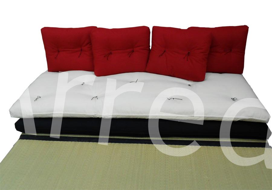 Divano letto futon pacha matrimoniale cotone tela arredo e