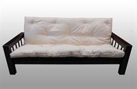 Divano letto kyoto in legno con futon arredo e corredo - Divano letto con doghe in legno ...