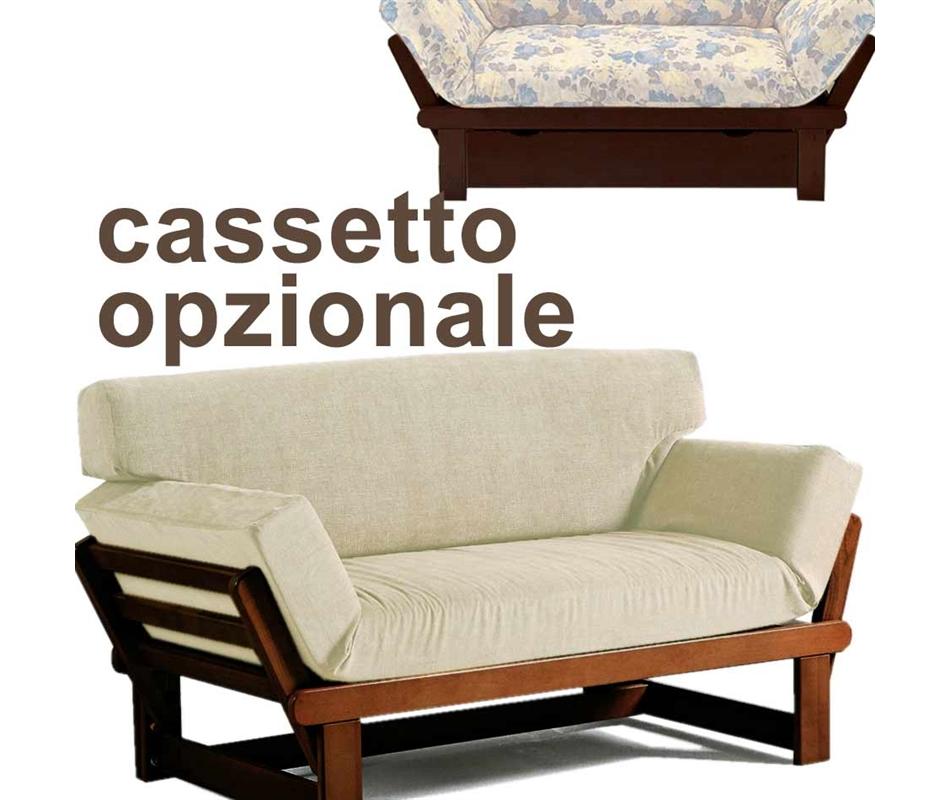 Divano letto relax triclinio cassetto opzionale arredo e corredo di emanuela mamone - Letto divano singolo ...
