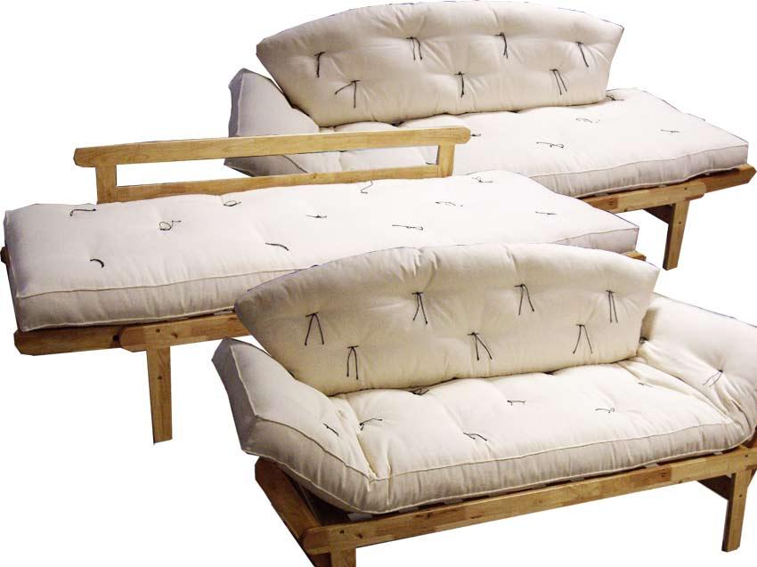 Divano letto sesamo chaise long rubberwood arredo e for Divano materasso maison du monde