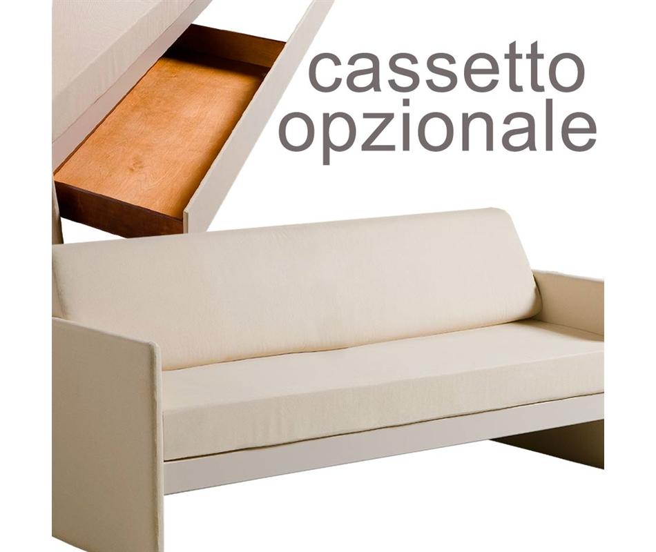 Divano letto singolo gaya con cassetto opzionale arredo e corredo di emanuela mamone - Letto divano singolo ...