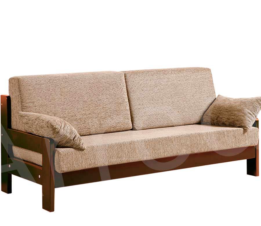 Divano letto singolo in legno riposo arredo e corredo - Divani letto rustici in legno ...
