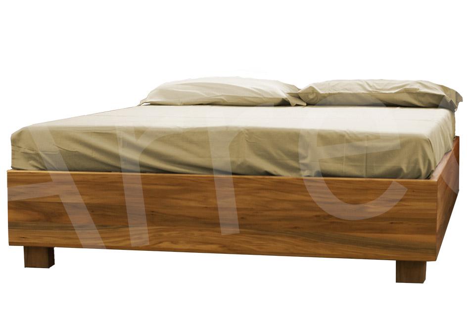 Letto in legno con contenitore bauletto arredo e corredo for Letto in legno con contenitore