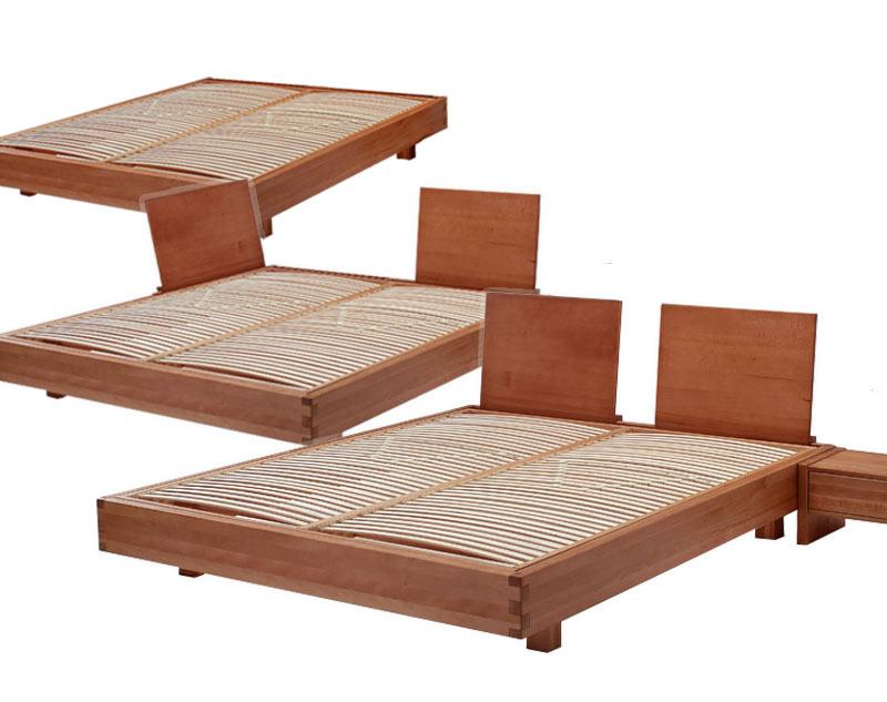 Letto in legno exil con testiera e comodini coordinati - Testiera letto legno ...