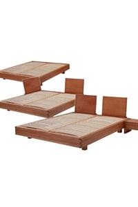 Letto in legno exil con testiera riposizionabile arredo e corredo - Testiera letto legno ...