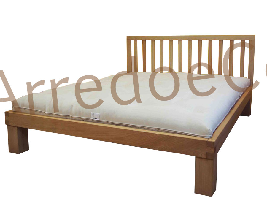 Letto in legno yuki testiera e doghe incluse arredo e - Testiera letto legno ...