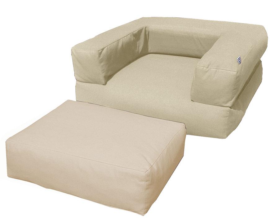 Pouf letto futon cubo basic arredo e corredo - Poltrona pouf letto ...