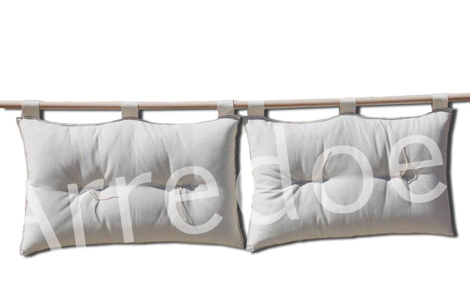 testata letto matrimoniale Duo Basic h. 50cm - Arredo e Corredo