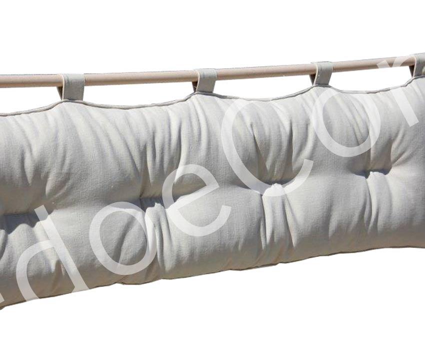 Testiera letto a cuscino Bali - Basic ecrù - cotone - Arredo e Corredo di Emanuela Mamone