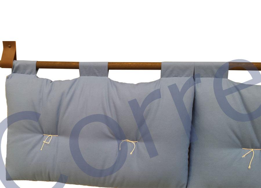 Testata letto loto cotone moeco 2 cuscini - Testata letto cuscini ...