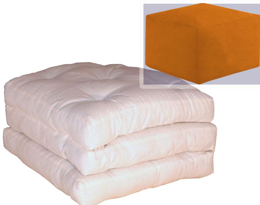 Pouf letto futon pouffuton arredo e corredo for Letto futon