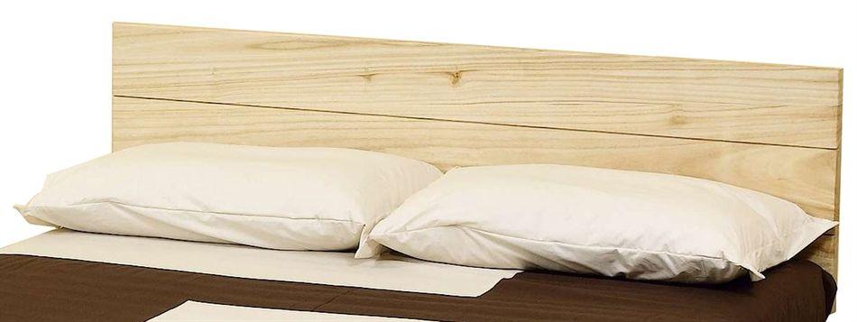 Testiera letto solypso in legno vestito di cotone arredo e corredo - Costruire letto matrimoniale ...