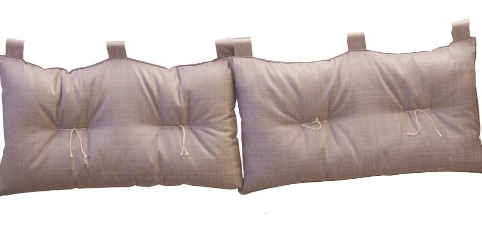 Testata letto matrimoniale duo surat 2 cuscini arredo e for Testiere letto a cuscino
