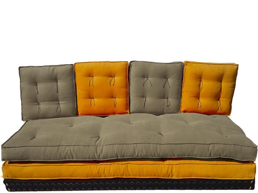 Divano letto futon pacha nilo matrimoniale arredo e for Divano letto futon