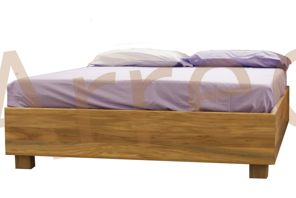 Letto in legno con contenitore bauletto arredo e corredo - Letto senza testiera ...