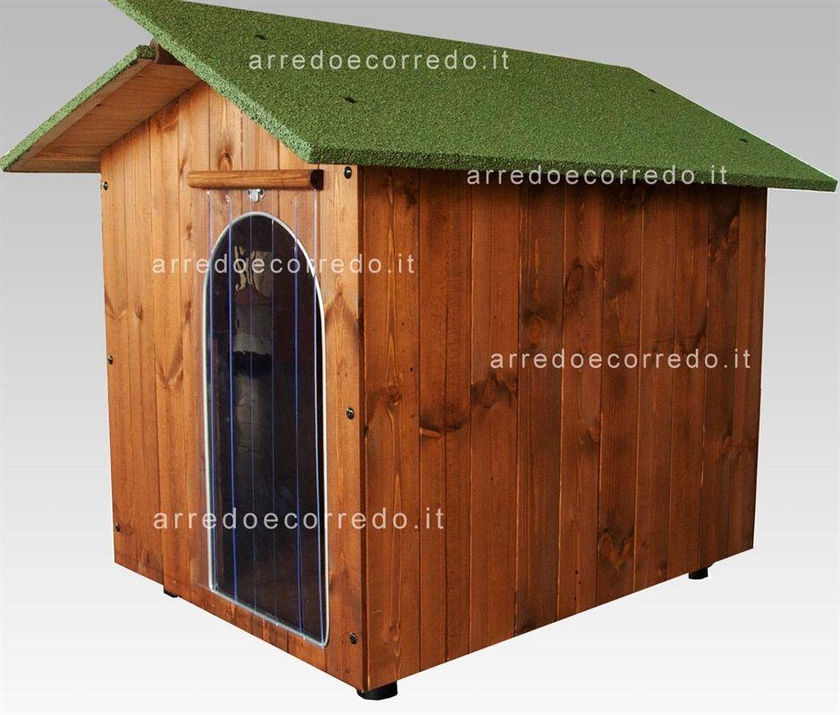Cuccia per cani in legno large arredo e corredo for Costruire cuccia per cani da esterno