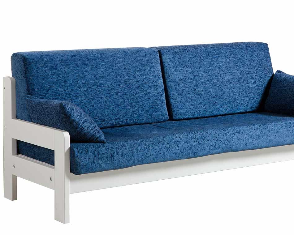 Divano letto singolo in legno riposo arredo e corredo - Divano letto doghe in legno ...