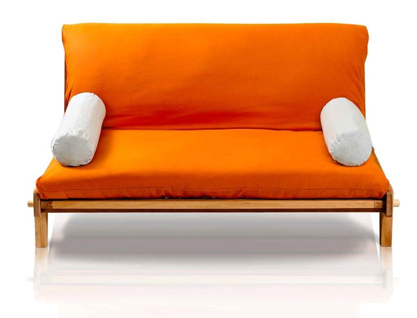 Divano letto relax yasumi legno a incastri con futon for Piccolo divano letto