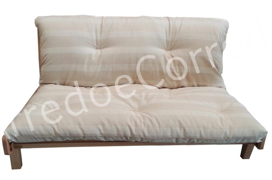 Divano letto relax yasumi legno a incastri con futon - Futon divano letto ...