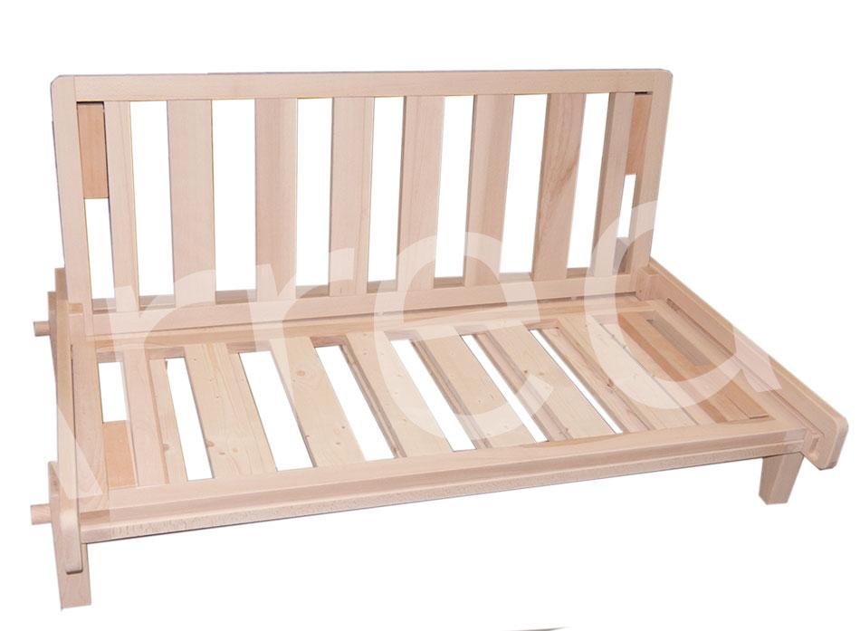 Divano letto relax yasumi legno a incastri con futon arredo e corredo - Divano ikea con struttura in legno ...