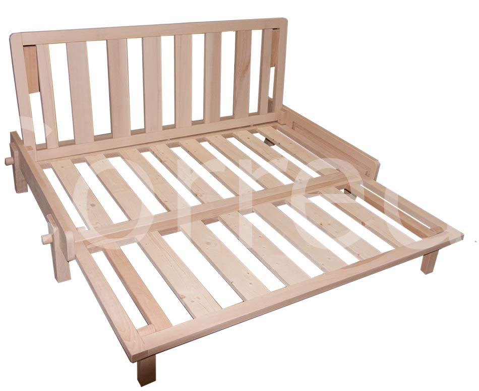 Divano letto relax yasumi legno a incastri con futon arredo e corredo - Divano letto click clack ...