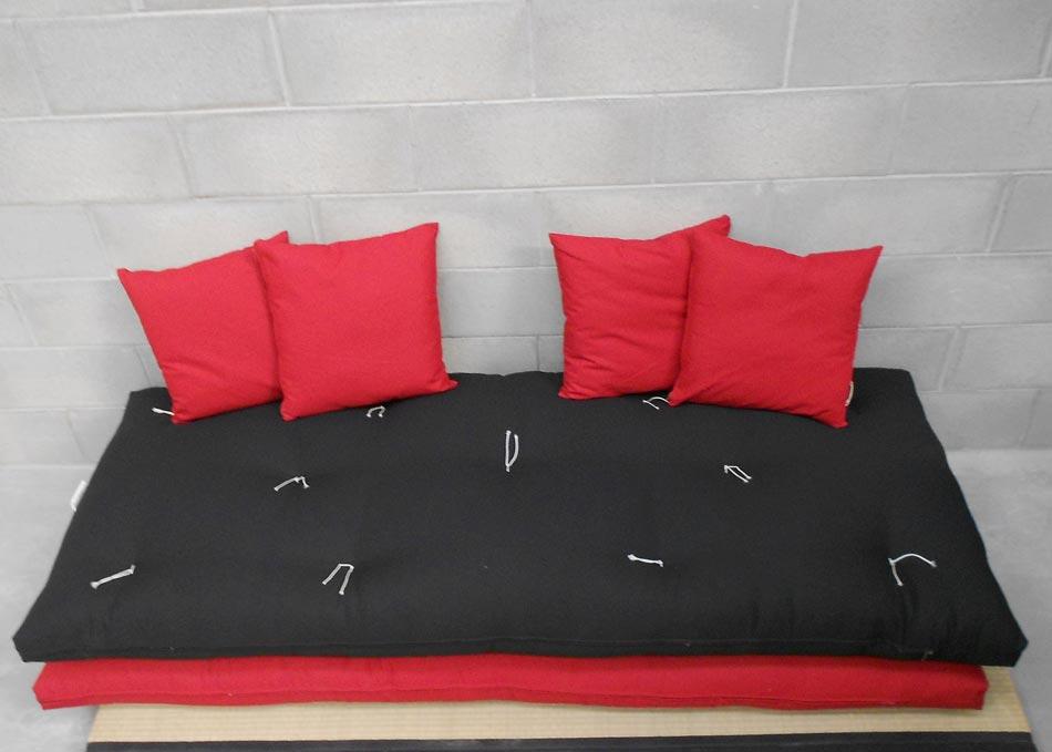 Divano letto futon pacha matrimoniale cotone tela for Cuscini arredo letto matrimoniale