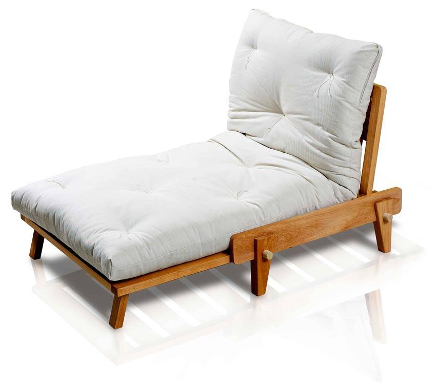 Poltrona letto relax yasumi legno a incastri con futon for Poltrona letto futon