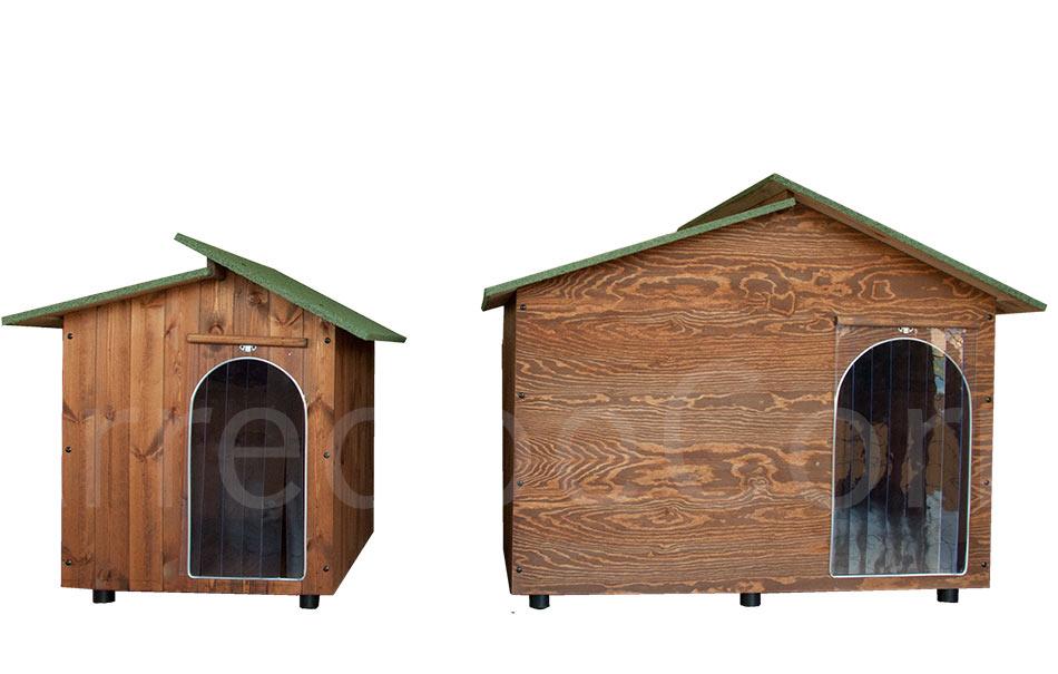Cuccia in legno family 2 ingressi arredo e corredo for Cucce da interno per cani taglia grande