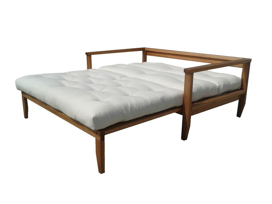 Divano letto in legno scivolo con futon arredo e corredo for Divano letto futon