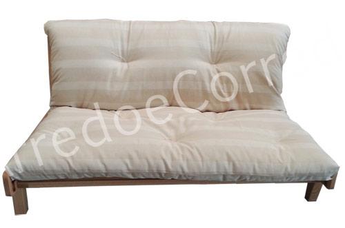 Divano letto relax yasumi legno a incastri con futon arredo e corredo - Divano letto retro ...