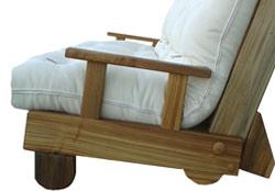 Poltrona Letto Futon : Divano letto in legno con futon nature matrimoniale arredo e