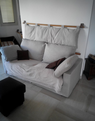 Cover per testata letto bali in caleido lino cotone for Testiere letto a cuscino
