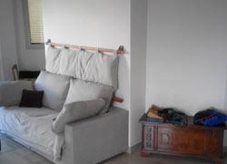 Testiera letto imbottita bali caleido arredo e - Spalliera letto con cuscini ...