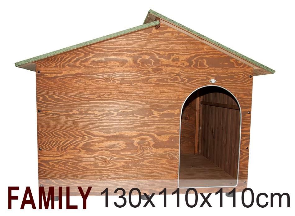 Cuccia family casetta per cani in legno cuccia per amore for Cucce da interno per cani taglia grande