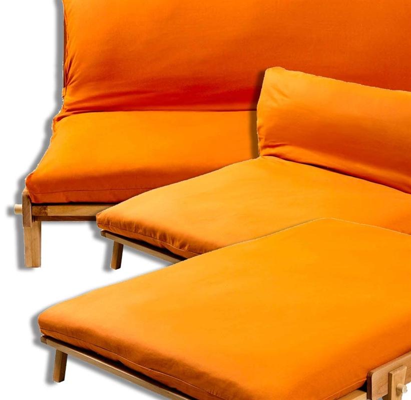 Divano letto yasumi legno ad incastri con futon arredo e corredo di emanuela mamone - Divano letto futon ...